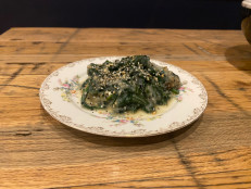 "Everything Bagel ""Creamed"" Spinach"
