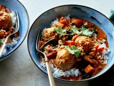 African Peanut Stew with Chicken Meatballs