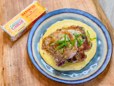 Sage Pork Chops with Cheddar Cheese Grits (Sponsored)