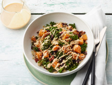 Quinoa Power Bowls with Butternut Squash and Tahini Sauce