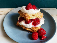 Raspberry Shortcakes with Double Ginger Biscuits