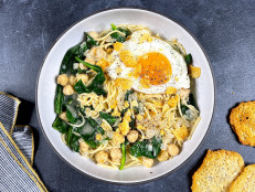Beans-and-Greens Pasta with Fried Eggs (Sponsored)