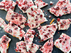 Valentine's Chocolate Bark with Pretzels and Dried Fruit