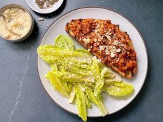 Bolognese on Toast with Caesar Salad