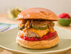 Turkey Burgers with Cranberry Relish