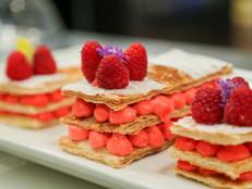 Red Velvet Napoleons with Raspberries