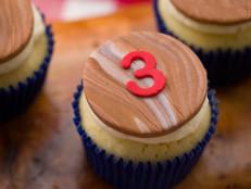 Woodgrain Cupcake Toppers