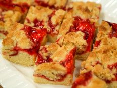 Almond and Strawberry Jam Bars