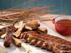 Smoked Ribs with Honey-Bourbon Glaze