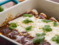 Quick and Easy Chicken Mole Enchiladas
