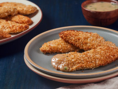 Baked Coconut Chicken Tenders with Mango Chutney Dipping Sauce