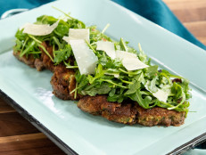 Parmesan Herb-Crusted Beef with Lemony Arugula