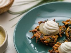 Herbed Potato Latkes with Kale
