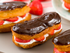 Cheater Eclairs with Strawberry Cream