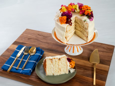 How to Decorate Sour Cream Cake with Almond Buttercream and Fresh Flowers