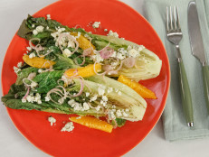 Orange and Blue Cheese Grilled Romaine Salad