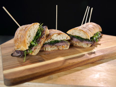 Guy's Big Game: Josh Capon's Steak Sandwiches