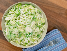 Brussels Sprout, Apple and Pear Slaw