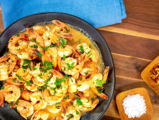 Garlicky Lemony Shrimp Scampi