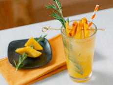 Orange Mango Fizz with Spicy Mango