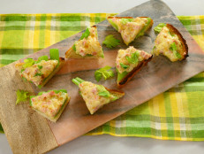 Celery, Ham and Cheese Toasts
