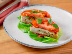 Antipasto-Stuffed Turkey Burgers