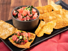 Tuna Poke with Wonton Chips