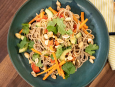 Soba Noodle Salad with Peanut Dressing