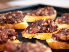 Pine Nut and Date Crostini