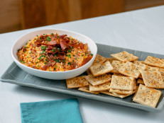 Millionaire Pimento Cheese with Seeded Saltines