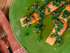 Slow-Cooked Salmon with Salsa Verde