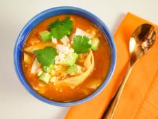 Chicken Tortilla Soup with Crispy Tortilla Strips