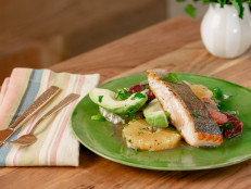 Crispy Salmon with Citrus and Avocado Salad