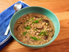 Dairy-Free Cream of Wild Mushroom and Barley Soup