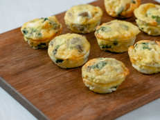 Crustless Mini Quiches with Mushrooms and Swiss Chard