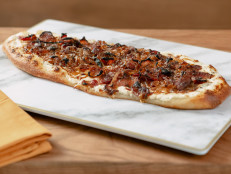 Tarte Flambee with Goat Cheese