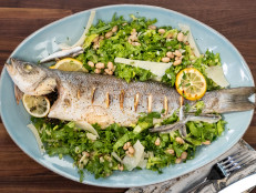 Roasted Whole Branzino with Escarole Salad
