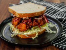 Nashville Hot Chicken Sandwiches with Fennel Slaw and Iceberg Lettuce