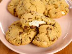 Gooey Marshmallow Filled Chocolate Chip Cookies