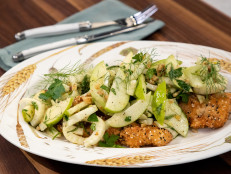Crispy, Breaded Chicken with Fennel Salad