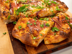 Spring Onion and Salami Sheet-Pan Pizza