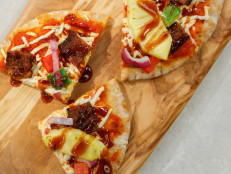 Vegan Hawaiian Pita Pizzas