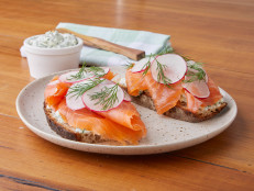 Open Rye Sandwich with Smoked Salmon