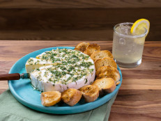 Baked Brie with Lavender Honey and Bees Knees Breeze Cocktails
