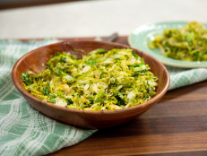 Shredded Brussels Sprouts with Lemon and Poppy Seeds