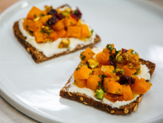 Butternut Squash and Goat Cheese Tartines