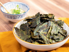 Spicy Kale Chips and Miso Dip