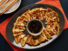 Scallion Pancakes with Dim Sum Dipper