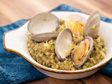 Fregola with Little Neck Clams and Lemon-Parsley-Walnut Pistou