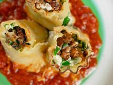 Ruffled Lasagna Roll-Ups
